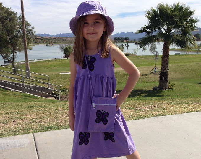 Featured listing image: Butterfly Dress, Purple Cotton Summer Dress, Toddler Girl Clothes, Dress For Girl, Sun Dress, Back To School, Jumper, inkybinkybonky