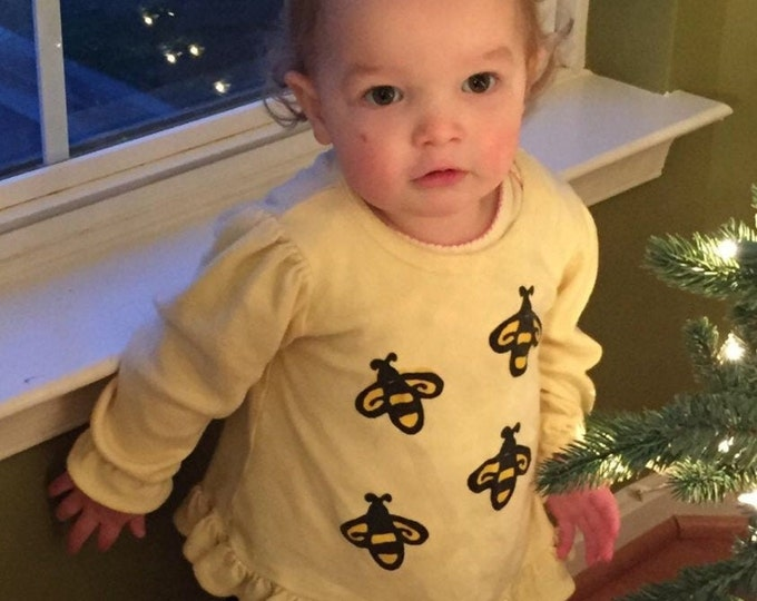 Featured listing image: Baby Girl Bumblebee Set, Toddler Girl Bees, Winter Baby Cotton Clothes, Long Sleeve, Infant Girl Clothes, inkybinkybonky