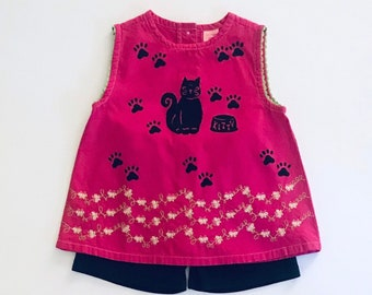 5T Pink Kitty Shorts Set Pink Kitty Outfit Girl Summer Girl Toddler Toddler Girl Shorts Set Girl Summer Clothes Girl Clothing Toddler Girl