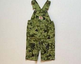Green Camo Monkey Overalls, 12mo Infant Boy Clothes  Boy Infant Gift, Long Pants, Birthday Gender Neutral Unisex, inkybinkybonky