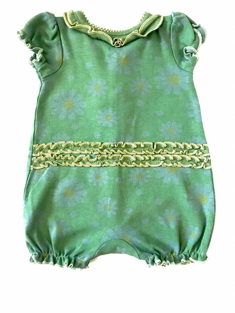6mo Girl Frog Onesie Infant Girl Onesie Green Frog Onesie Cute Infant Girl Girl Baby Gift 6 Month Girl Girl Shower Gift
