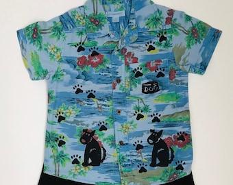 3T Boy Blue Dog Shirt Set,  Summer Clothes, Toddler Boy Outfit Toddler Hawaiian Shirt Boy Birthday Toddler Boy Clothes, inkybinkybonky