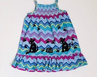 24month Puppy Dog Dress, Girl Dress, Cotton Toddler Sun Dress, Sundress , 24 Month Girl Clothes, Girl Summer Clothes, inkybinkybonky
