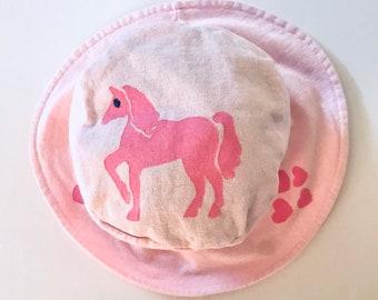 Toddler Pink Unicorn Hat, Unicorn Hat, Pink Toddler Hat, Girl Unicorn Hat, Unicorn Bucket Hat, Girl Sun Hat, Girl Bucket Hat,Girl Summer Hat