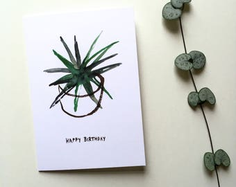Aloe birthday card