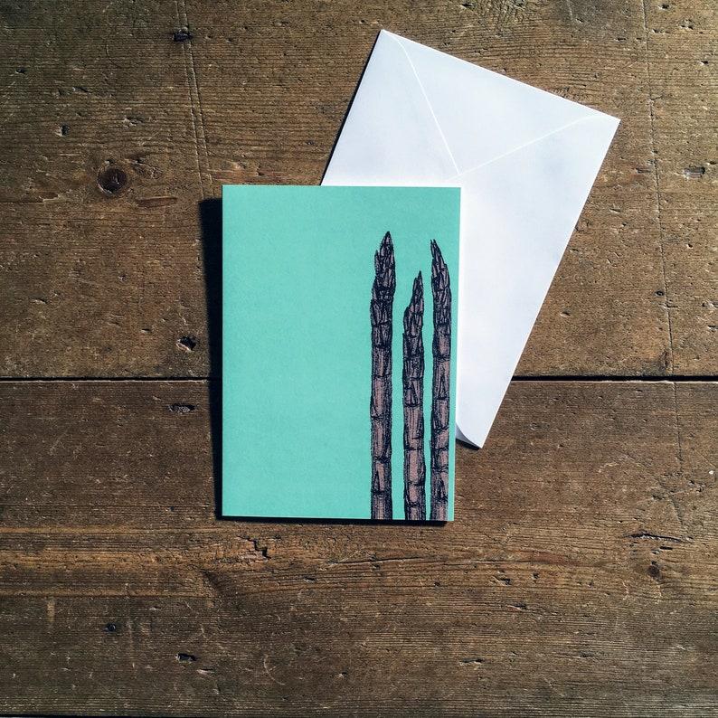 Asparagus greeting card image 0