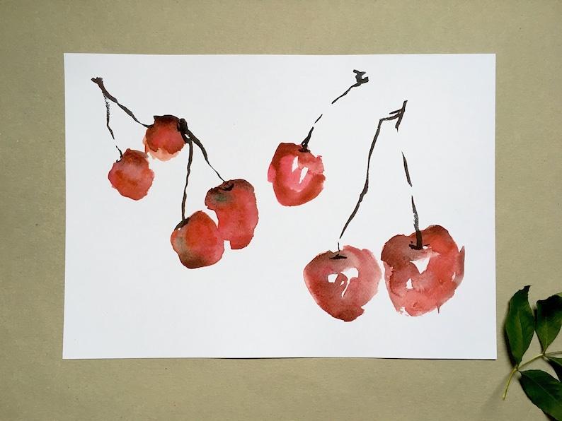 Cherries art print image 0