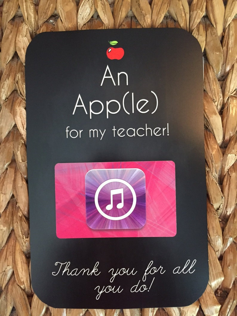 photo regarding Itunes Printable Gift Card identified as An Application(le) for my instructor- Itunes - Printable Trainer Appreciation Present Present card holder