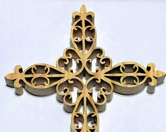 Wooden Fretwork Cross