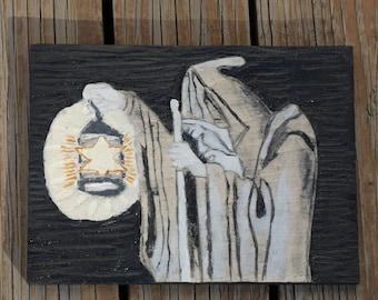 Led Zeppelin IV Hermit carving