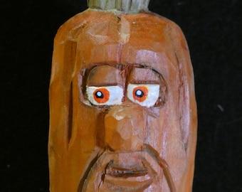 Mr. Pumpkin Head - Expressive Pumpkin Face - Large Size