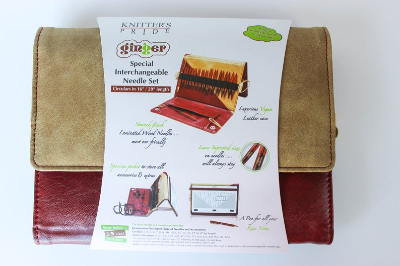 Knitters Pride Ginger 16 Special Short Tip Interchangeable Knitting Needle Set