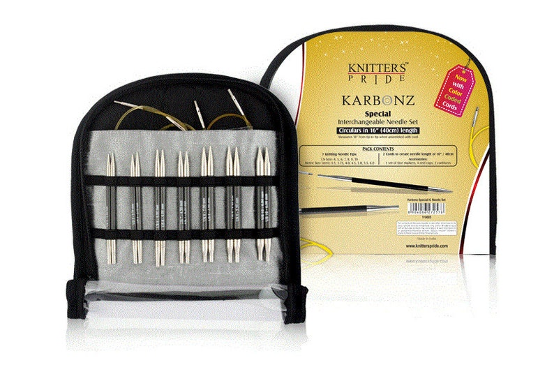 Knitter/'s Pride Karbonz Special 16 Short Tip Interchangeable Knitting Set
