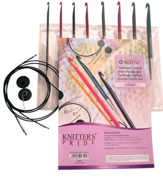 Dreamz Tunisian//Afghan Crochet Hook /& Cable Set From Knitter/'s Pride