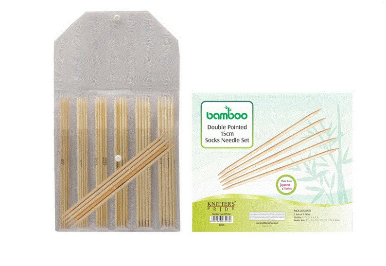 15 cm Double Pointed Needle Set Knitters Pride Bamboo 6 inch 6 15 cm