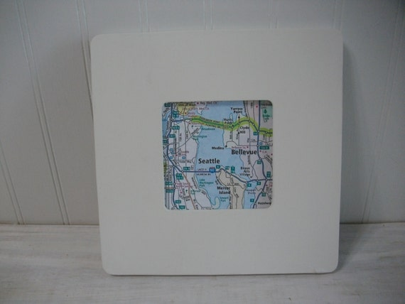 Custom Map Square Frame / Custom Map Art / Personalized Map Art Print and  Frame in Multiple Colors / Custom Wedding Gift