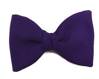 e09734d2f788 1960s Bow Tie, Purple Bow Tie, Vintage 60s Bow Tie, Big Butterfly Bow Tie, Purple  Bowtie, Purple Butterfly, Adjustable Bow Tie, 50s Neckwear