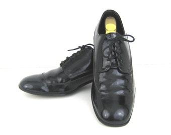 0785e59edd1 1960s Mens Shoes Black Patent Shoes Patent Leather Shoes 60s Tuxedo Shoes  Dress Mens Dress Shoes Black Patent Leather Shoes Formal Shoes