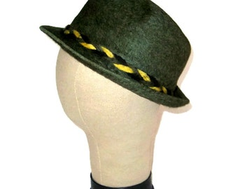 44bb0cf1324 60s Dark Khaki Hat Royal De Luxe Stetson 1960 Fur Felt Fedora Dark Olive Hat  Mens Hat Stetson Made in Canada Pinched Front Fedora by Stetson