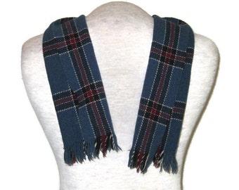 731cad8c4db des années 60 tartan foulard homme foulard Vintage pour homme foulard  fabriqué en Ecosse des années 1960 Tartan bleu foulard écharpe foulard à  carreaux bleu ...