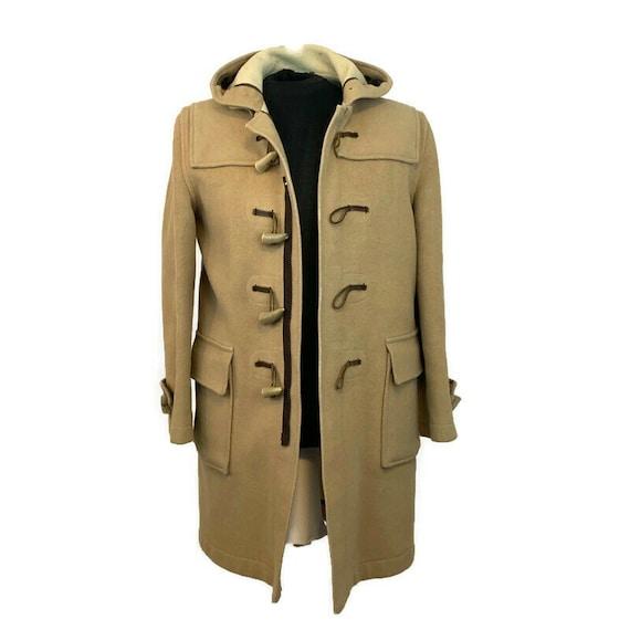 Vintage 60s Camel Duffle Coat, 1960s Hooded Duffle