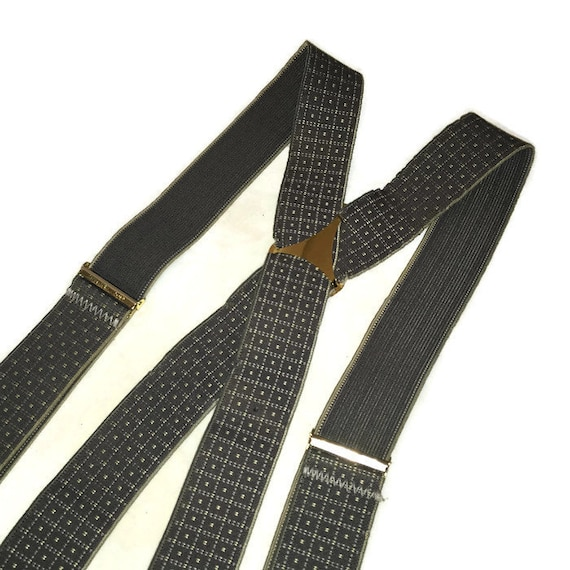 GZQ Mens Suspenders Adjustable and Elastic Braces with Strong Metal Clips