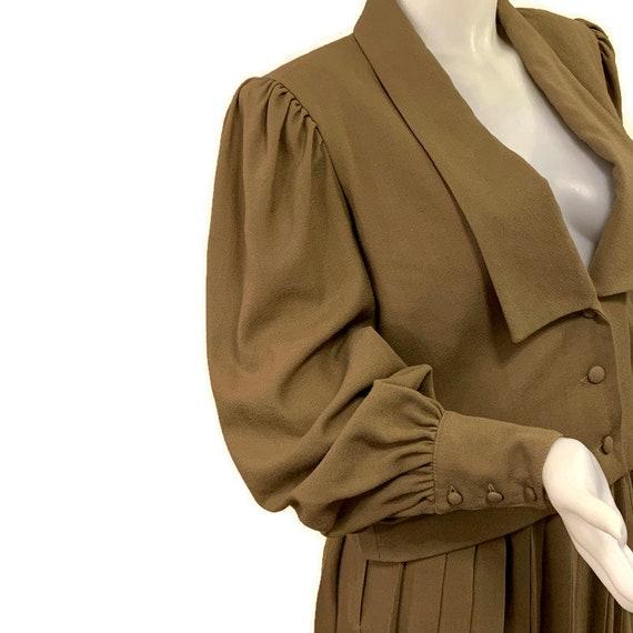 80s Virgin Wool Suit, Khaki Brown Suit, Jacket an… - image 3