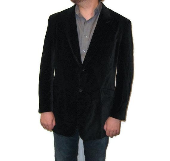 80s Velvet Jacket Black Sport Coat Velvet Sports J