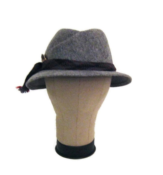 70s Fedora Hat Grey Womans Hat Doeskin Felt Hat W… - image 3