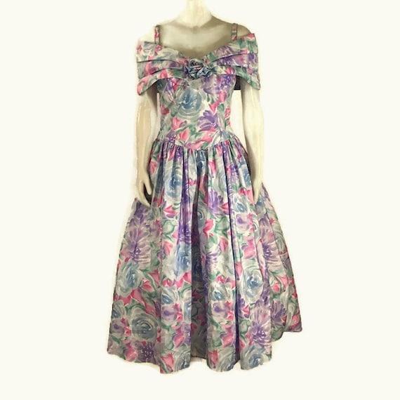 80s Garden Party Dress, Vintage 1980s Bridesmaid D
