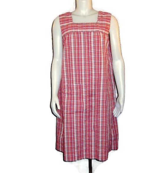 1960s Seersucker Shift Dress, Vintage 60s Summer D