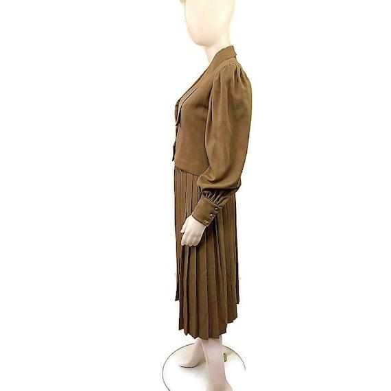 80s Virgin Wool Suit, Khaki Brown Suit, Jacket an… - image 6