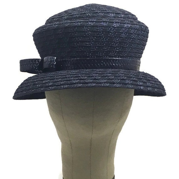1960s Blue Hat, Blue Lampshade Hat, 50s 60s Lampsh
