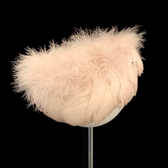 50s Feather Wig Hat, Vintage 1950s Feather Hat,  … - image 2