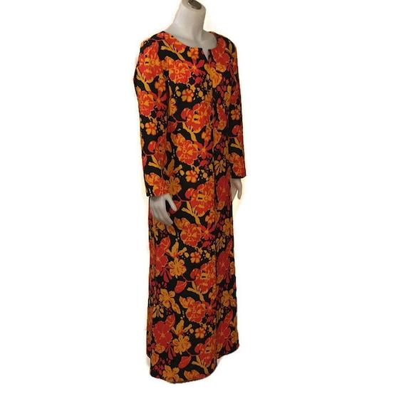 60s Hostess Gown, Kaftan, Floor Length, 1960s Max… - image 5