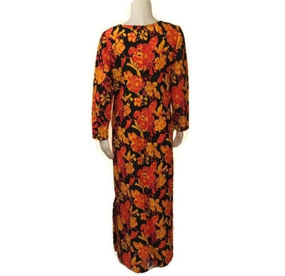 60s Hostess Gown, Kaftan, Floor Length, 1960s Max… - image 4
