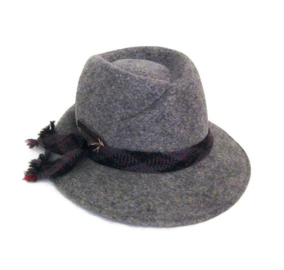 70s Fedora Hat Grey Womans Hat Doeskin Felt Hat W… - image 1