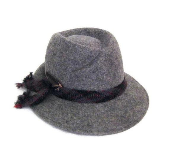 70s Fedora Hat Grey Womans Hat Doeskin Felt Hat Wo