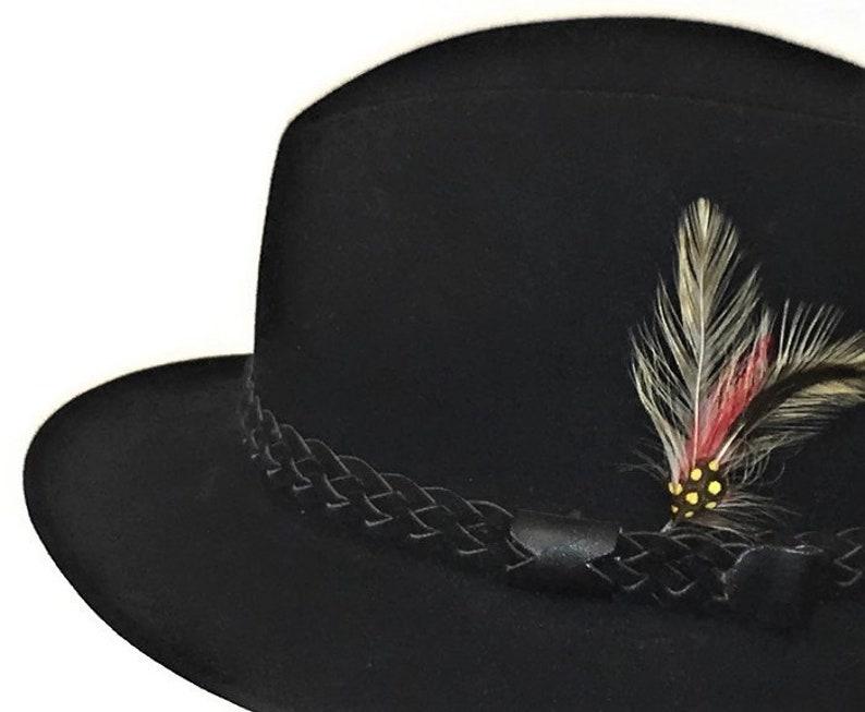 60s Black Hat Bobby Lee Royal Black Fedora 1960 Fur Felt  f13892d61fd9