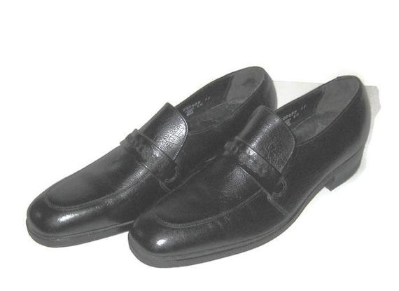 1980s Shoes Mens Shoes Black Loafers Florsheim Bla