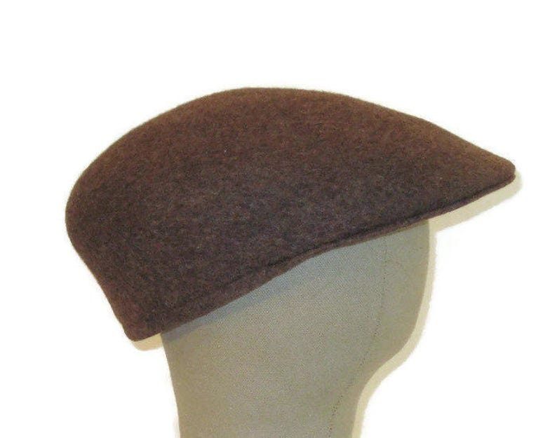 8602c66a527 60s Newsboy Flat Cap 1960s Wool Driving Cap Made in England