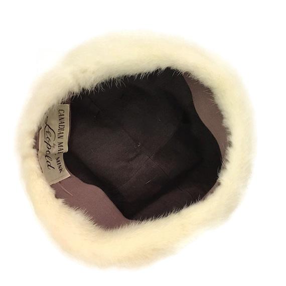 60s Mink Bubble Hat, Vintage 1960s White Fur Hat - image 7