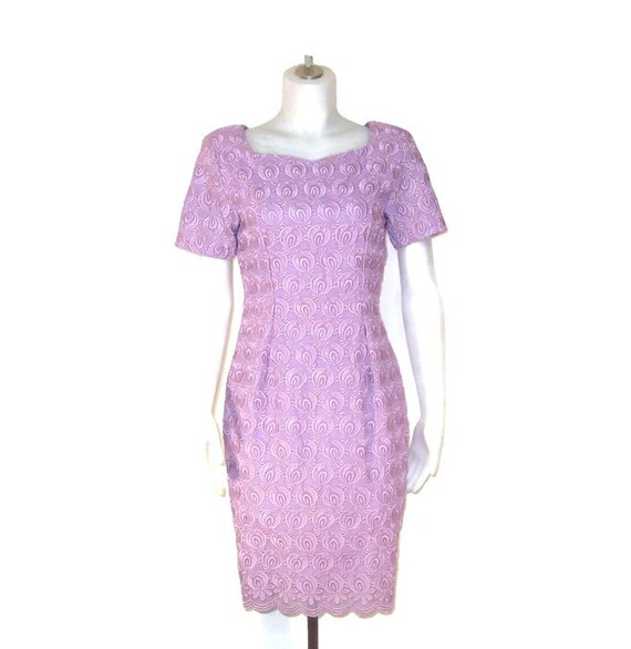 60s Lace Dress Mauve Dress Lilac Dress Purple Dres