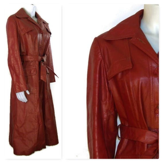 70s Leather Coat, Fall Leather Coat, Made in Canad