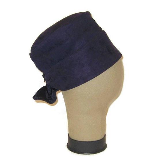 1960s Dress Hat,  MOD Dress Hat, 60s Suede Hat, Pu