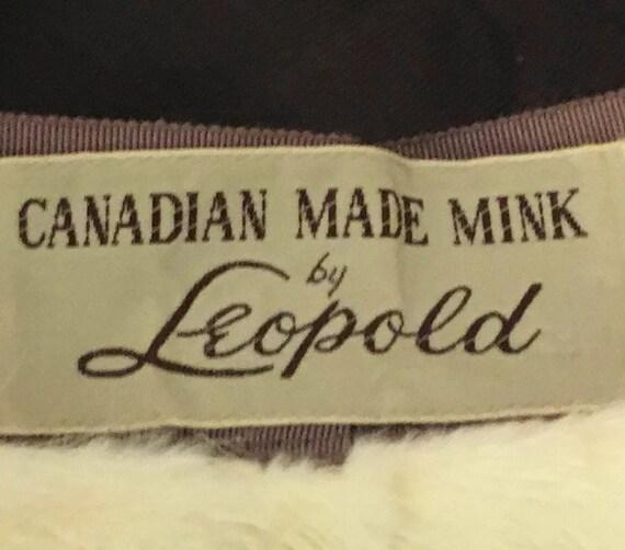 60s Mink Bubble Hat, Vintage 1960s White Fur Hat - image 9