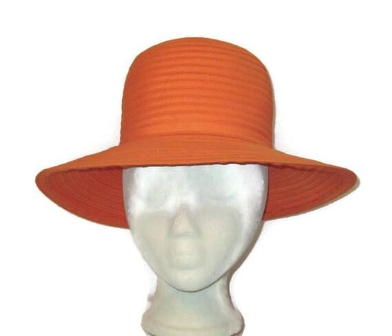 Orange Summer Hat, Orange Spring Hat, Orange Cruis