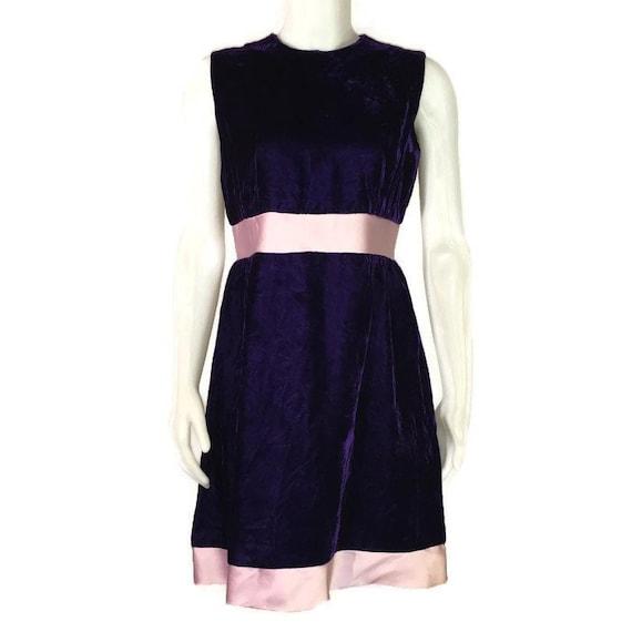 50s  Velvet Dress, Purple Velvet, Satin & Velvet,