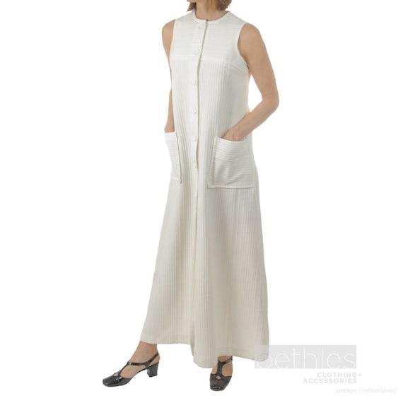 1960s Dress Summer Dress White Sleeveless Dress Cr