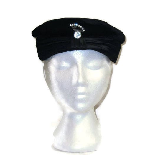 1950s Shell Hat Clam Shell Hat Black Shell Hat Bla